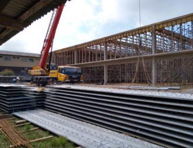 Içamento de lajes em obras ou construção civil