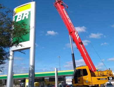 Instalação de totem em Posto de Combustível