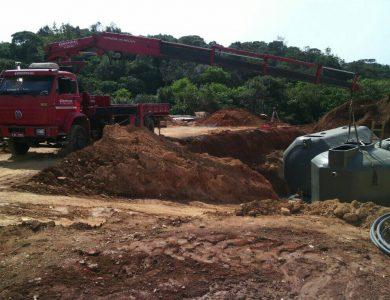 Auxiliando na instalação de cisternas