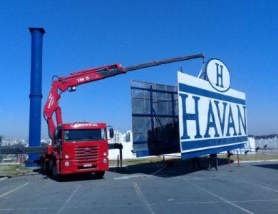 Içamento de frontlight comunicação visual Havan